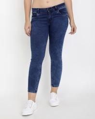 Recap Light Blue Shaded Womens Ankle Length Jeans