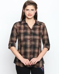 Recap Brown Checkered Shirt