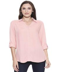 Recap Light Pink Solid Casual Shirt