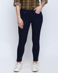 Recap Dark Blue Shaded Ankle Length Jeans